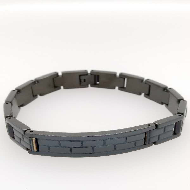 2018 new design 316 stainless steel black  man bracelet