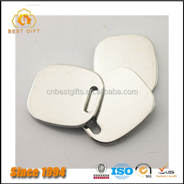 Wholesale Custom Cheap Hardware Bag Accessories Gold Blank Metal Logo Plate