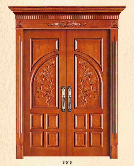Solid teak wood panel main door modern designs buy solid for Modern wooden main door design