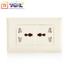 British design electric wall multi function PC 13A double multi socket