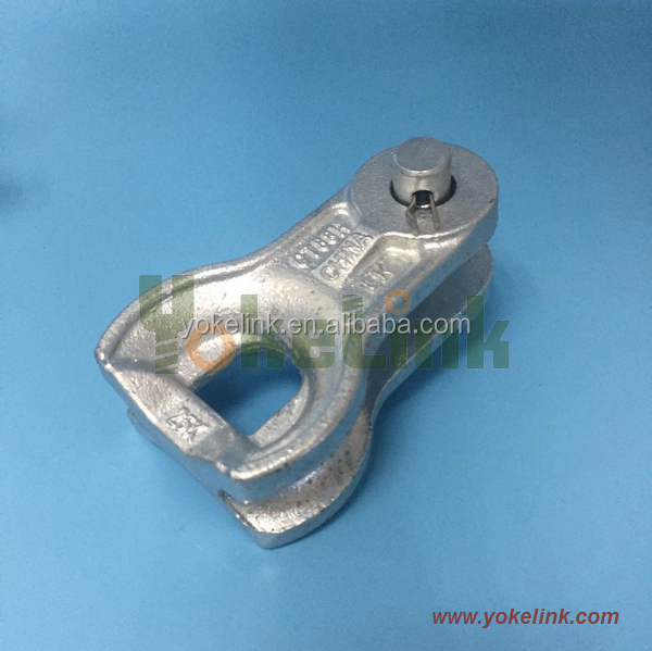 120KN carbon steel thimble clevis HDG ASTM A153