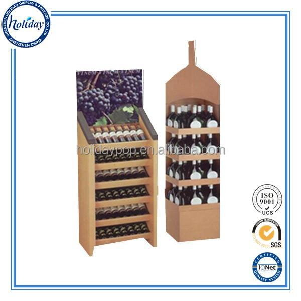 haute qualit durable verre de vin vitrine bouteille de vin pr sentoir carton promotion. Black Bedroom Furniture Sets. Home Design Ideas