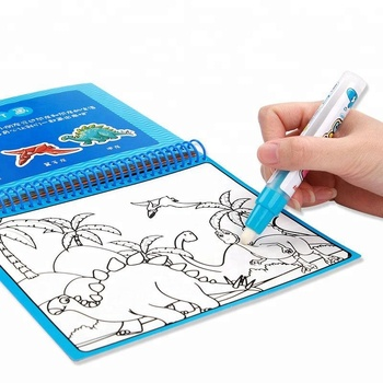 Education painting magic water coloring doodle book with water pen