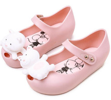 Cute cartoon design kids girls cheap sandals jelly shoes