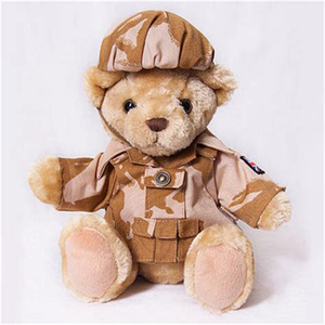 China Toy Factory Custom Stuffed Pilot Army Teddy Bear Plush