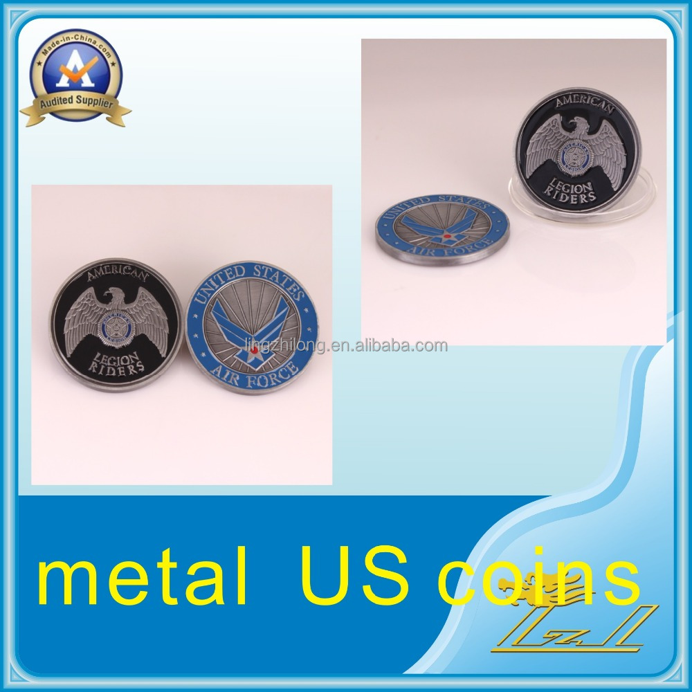 Precious die struck enamel two side trading custom challenge coins