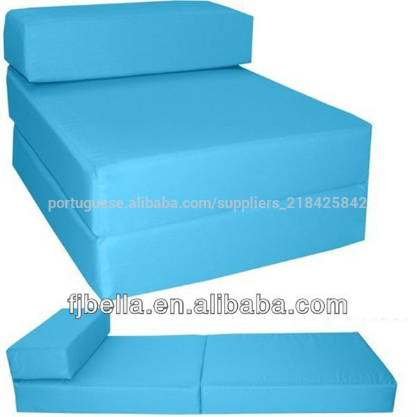 Bloco de espuma cadeira dobr vel cama de h spedes z futon for Sofa cama espuma 1 plaza