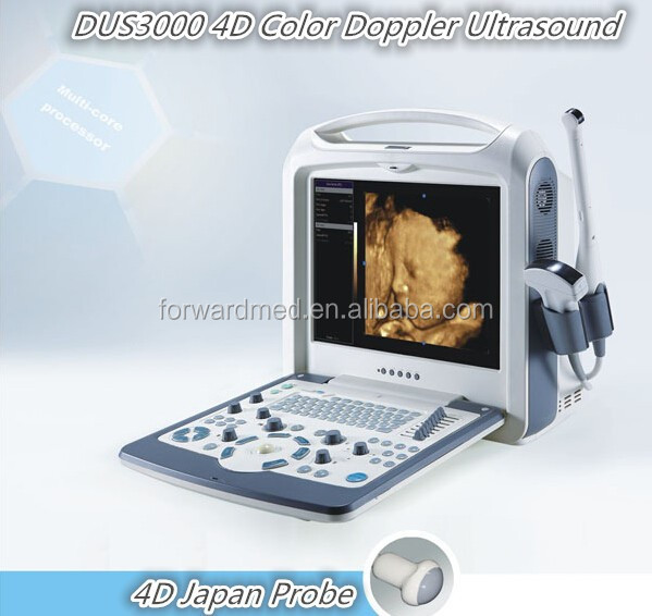 laptop portable 3D 4D color doppler ultrasound & portable Color Doppler Ultrasonic Scanner from China