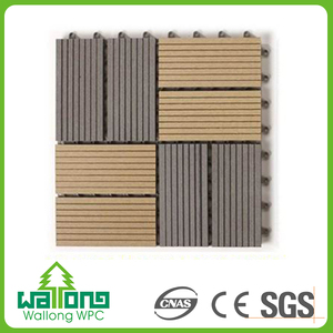 Easy install WPC interlocking decking outdoor floor tiles for swimming pool