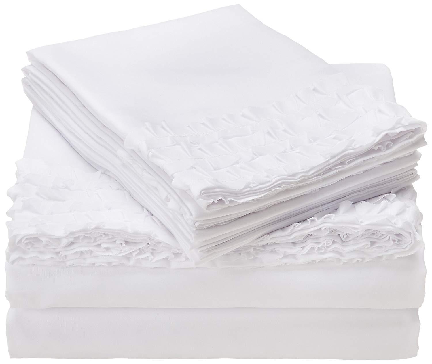 Get Quotations Intelligent Design Ruffled White Sheet Set Cottage Country Bed Sheets Full