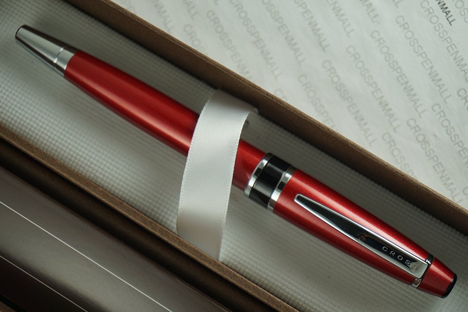 Cross Limited Edition Executive Companion Red Lacquer and Extremely Polished Chrome Fine nib Fountain Pen