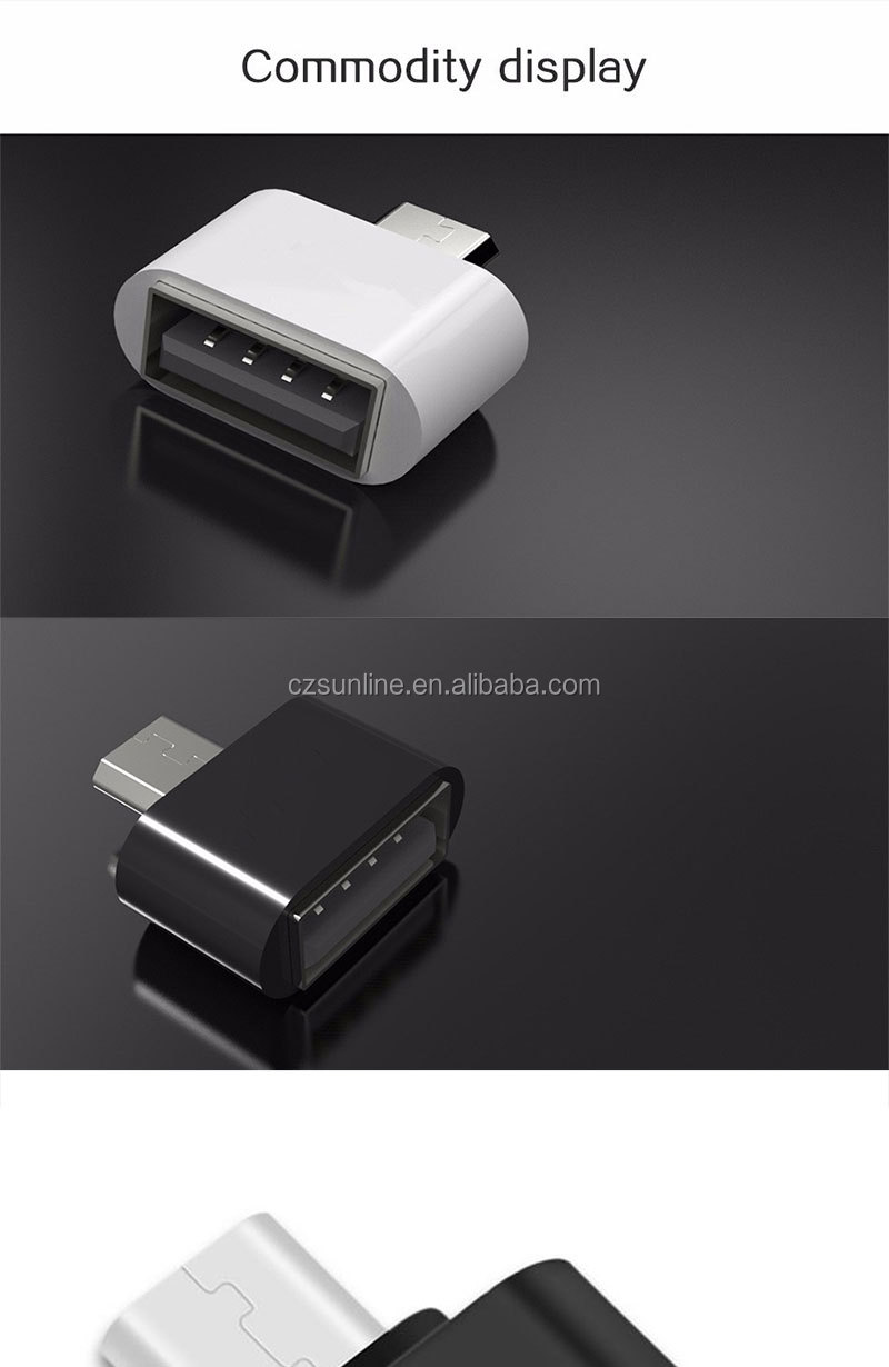 SUNLINE OTG Micro USB Naar USB 2.0 Female Converter Mini Adapter Smart Connection Voor Smartphone Toetsenbord Muis Game Controller