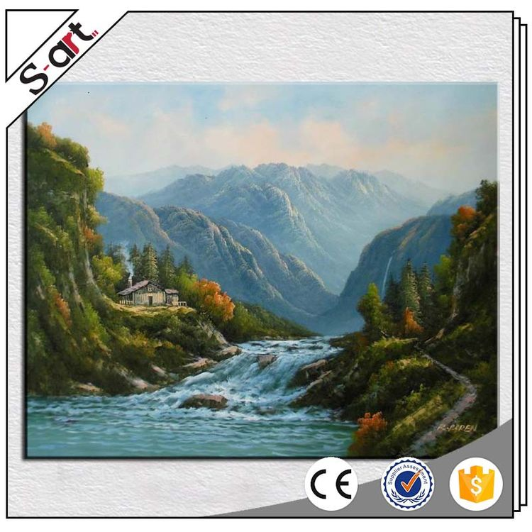 New style crazy selling photo oil painting landscape