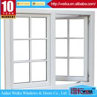 Tempered glass polycarbonate vinyl pvc low e casement storm windows