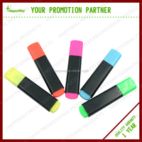 Colorful fashion style custom highlighters with logo MOQ100PCS 0203027 One Year Quality Warranty