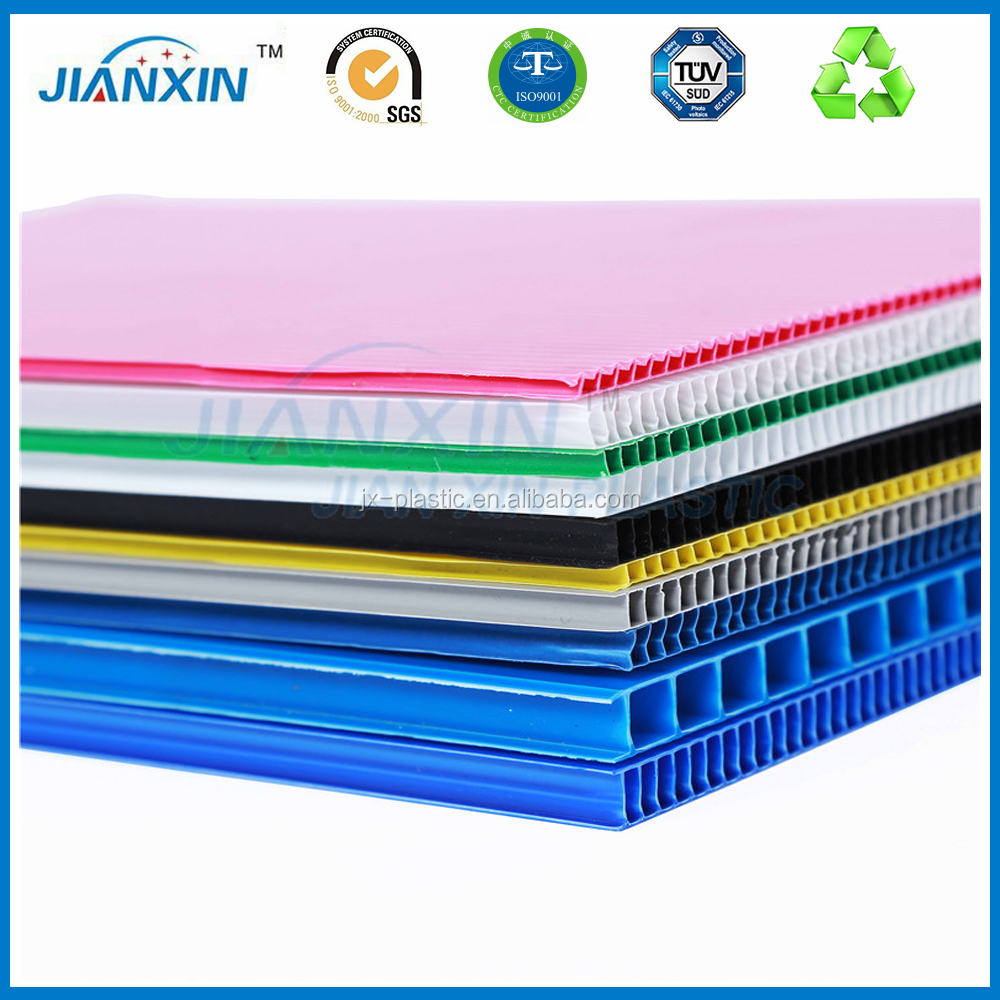 Hot salehigh quality corrugated pp plastic floor protect sheet for factory supply