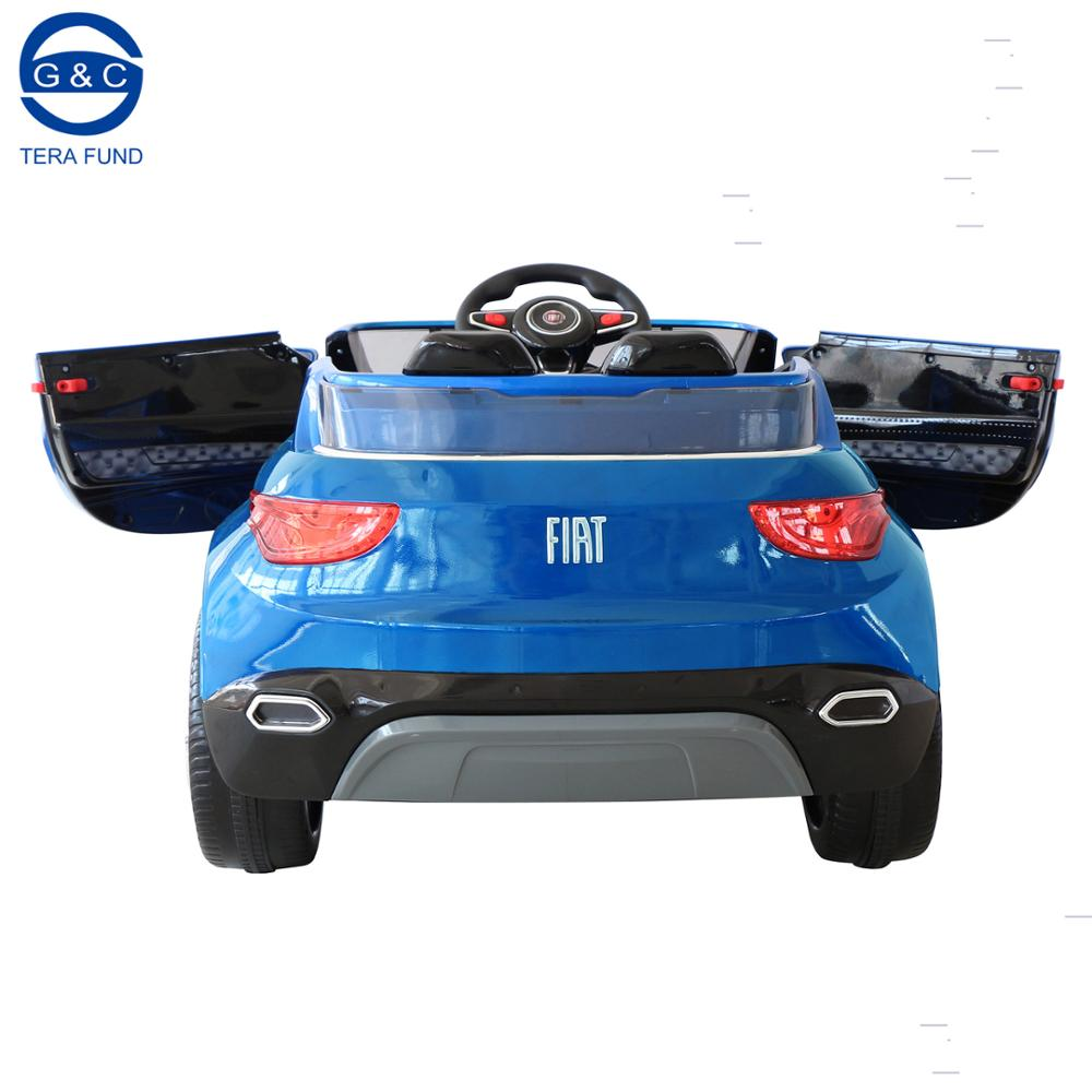 New Licensed Fiat Fcc 4 S Children Car Battery Door Can Open