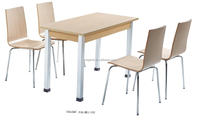 New style student canteen tables and chairs for school restaurant(FOH-XM11-592)