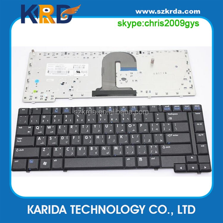 Wholesale laptop keyboard for HP COMPAQ 6510B 6515B 6715B 6710B notebook keyboard