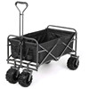 Foldable pull wagon hand garden cart wagon beach cart folding trolley and beach collapsible folding wagon cart