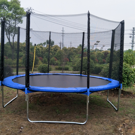 14-Foot Big Trampoline with Flashlight Zone Enclosure