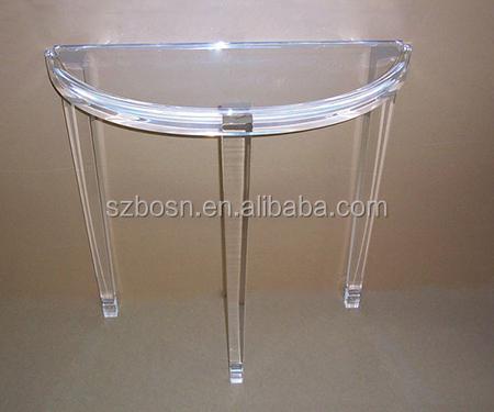 Custom Half Moon Console Acrylic Tables,Perspex Tables,Cheap Price - Buy Acrylic Table,Cheap