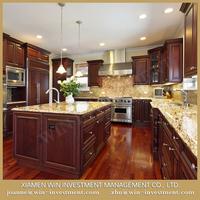 Amazing ganite kitchen countertop in Mascarello Golden Persa Granite slabs