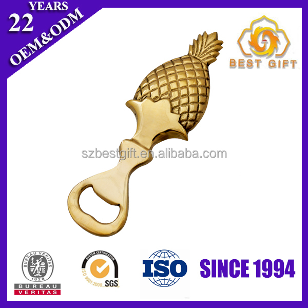 Hot selling Gold Plated Pineapple Beer Bottle Openers