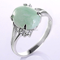 Quality new style silver jade wedding ring