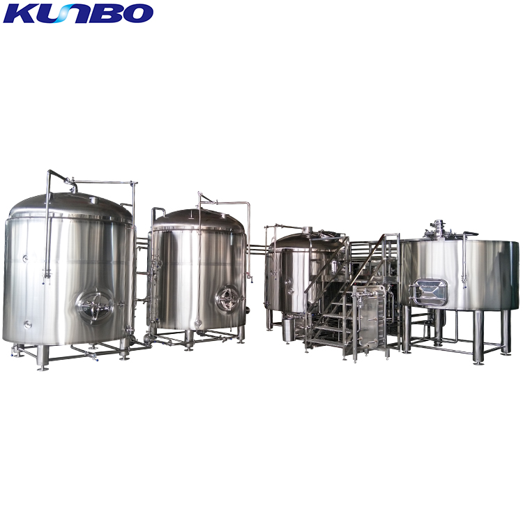 KUNBO Craft Brewery Beer 1000L 10BBL Mash Tun & Brew Kettle Beer Brewing Equipment