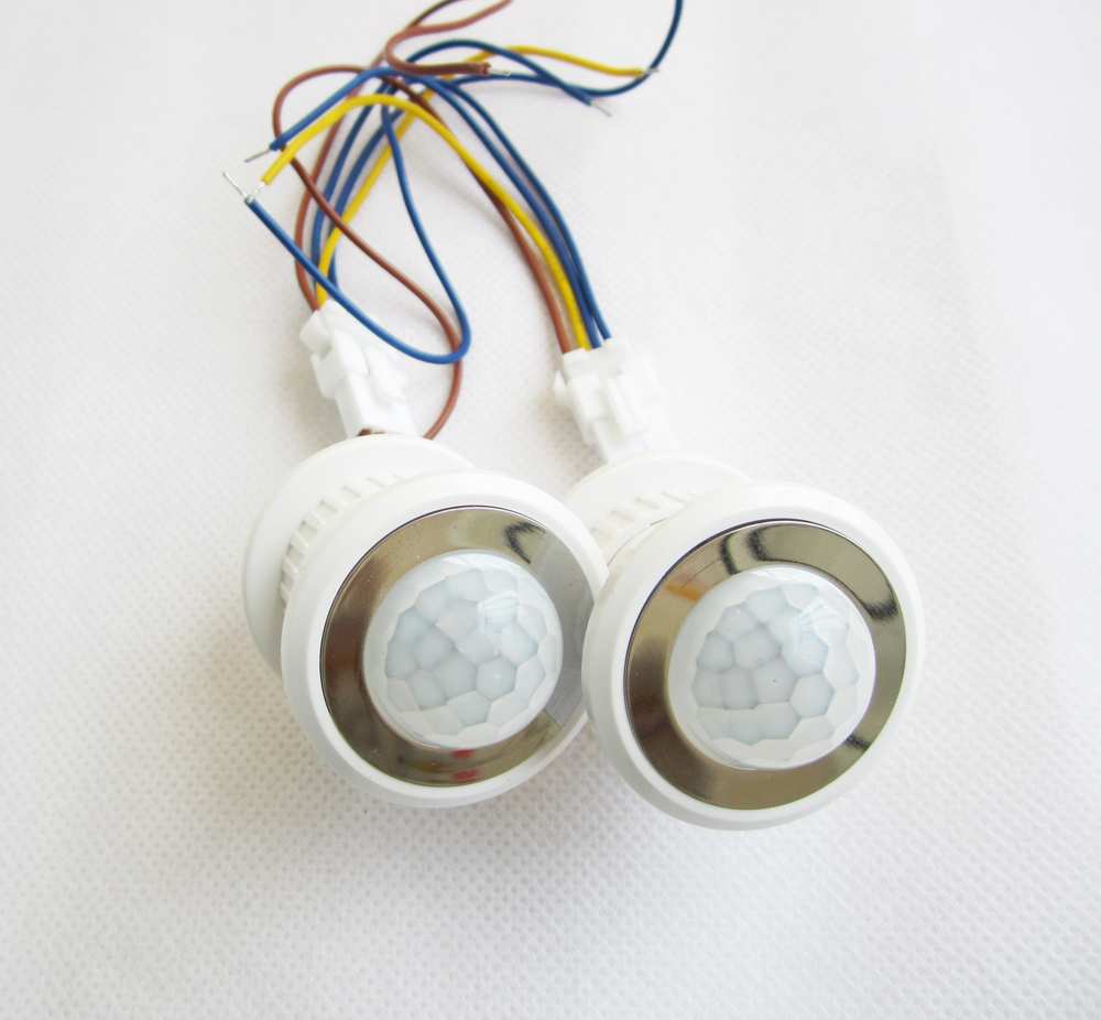 10pcs 40mm Led Pir Detector Infrared Motion Sensor Switch With Time Delay Adjustable Light Dark Security & Protection