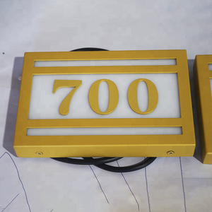 high quality customized door plate acrylic door number sign