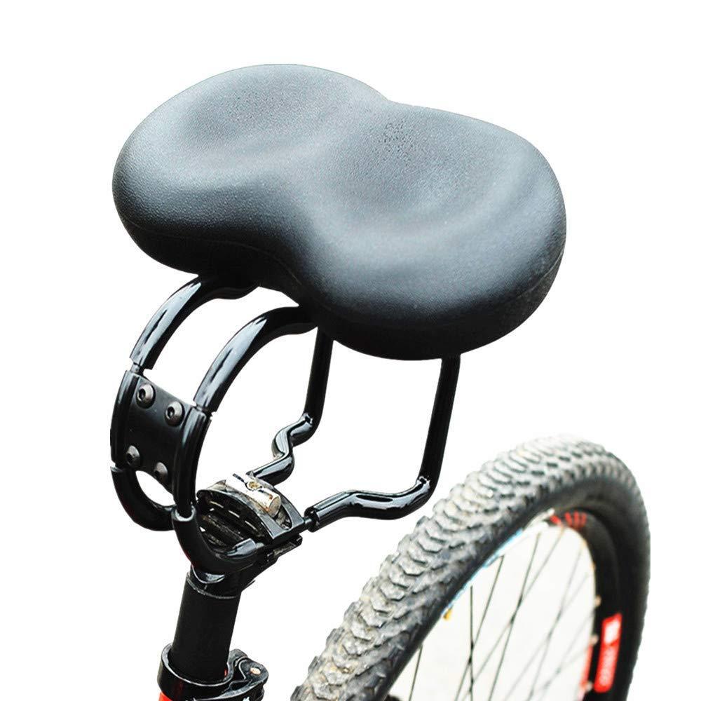 6f4c0574cb4 Get Quotations · Crystalzhong Bicycle Seat Comfortable Bike Seat Seniors  Extra Wide Padded Bicycle Saddle Men Women Comfort Bike