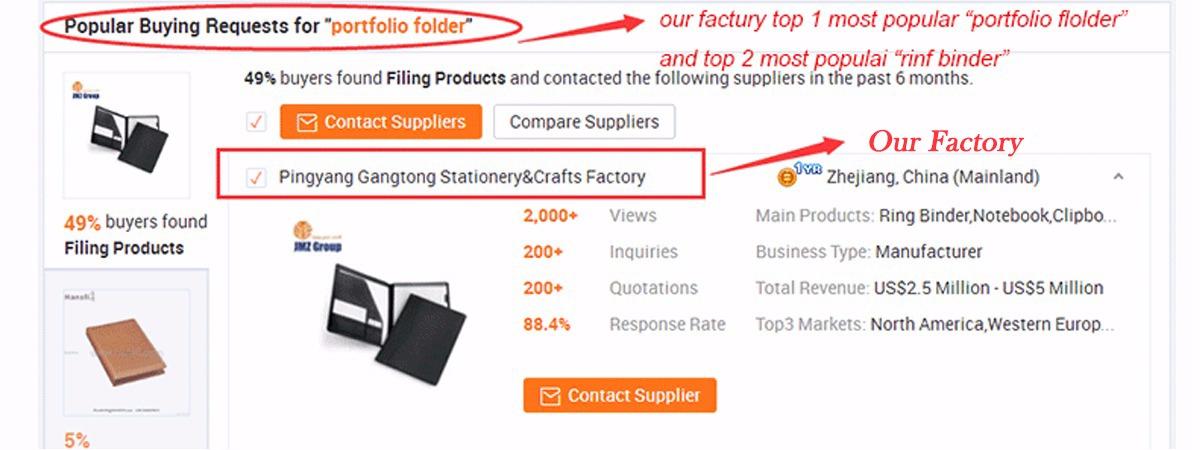 Wenzhou Gangtong Stationery&Crafts Co., Ltd. - Ring Binder, Notebook
