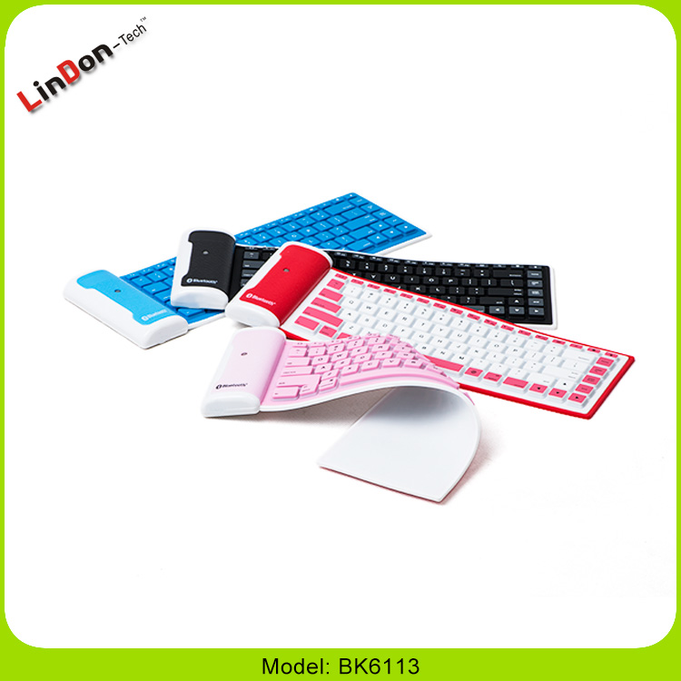 Super Slim Electronic Elastic Flexible Mini Bluetooth Rubber Silicone Keyboard