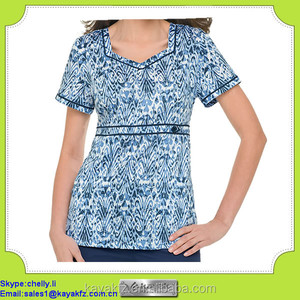 fashion design printed medical clothing uniforms for women