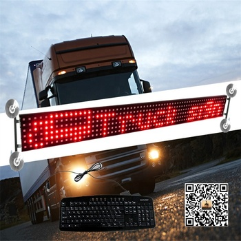 CE RoHS 12/24V P14-6x64 Brazil Keyboard Window LED Car sign Display For Truck