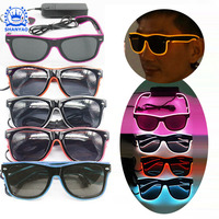 Hot Selling EL Light Up Sunglasses LED Glasses For Promotional Events And Party Supplies