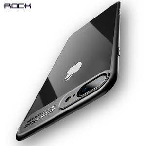 Original ROCK Slim Phone Case TPU Silicone & Transparent PC Cover Coque For iPhone X 8 7 6 6s plus Case