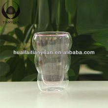 factory promotional pyrex double wall glass