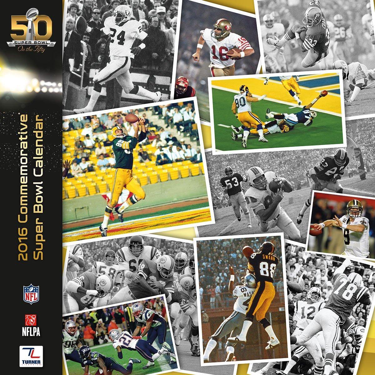 Turner 2016 Super Bowl 50 Commemorative Calendar, August 2015 - December 2016 (8011989)