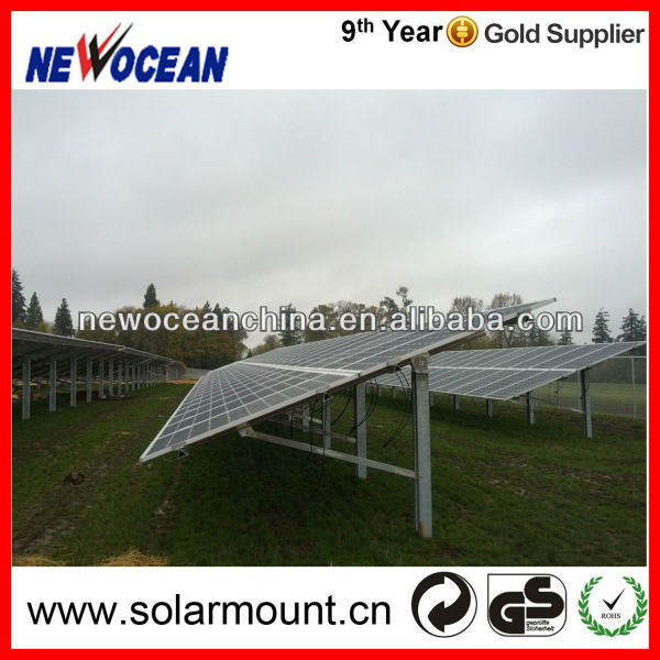 adjustable angle pile ground aluminum ground solar mount