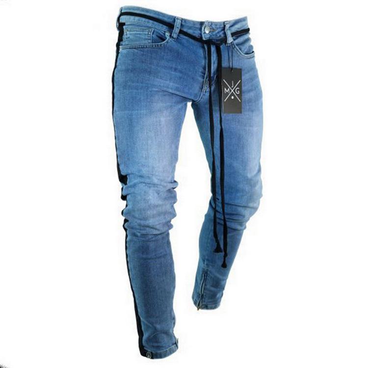 Vaqueros Ajustados De Hip Hop De Elastico De Corte Slim Denim Pantalones Hombre Elastico Lapiz Rodilla Rasgado Agujeros Jeans Para Hombres Buy Vaqueros Para Hombre Vaqueros Ajustados Para Hombre Vaqueros Ajustados Product On
