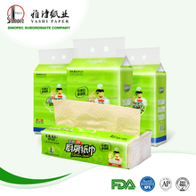 100% bamboo pulp kitchen towel paper for export