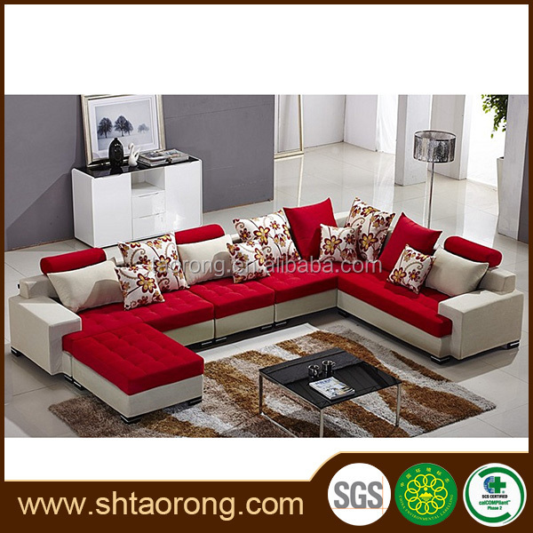 Modern Home Furniture L Shape Fabric Sofa Set Designs - Buy Home ...