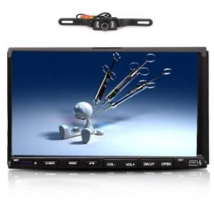 """HD Double Din 7"""" Car DVD MP3 Player Touch Screen Stereo Radio RDS USB/SD Double 2 Din In Dash Touch Screen Car Stereo DVD Player Radio IR+Camera"""