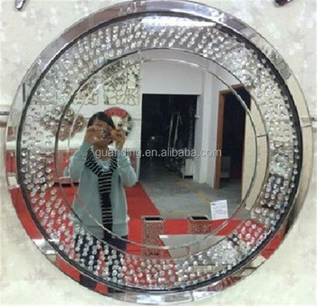 Crystal Round Shaped Unique Wall Mirrors