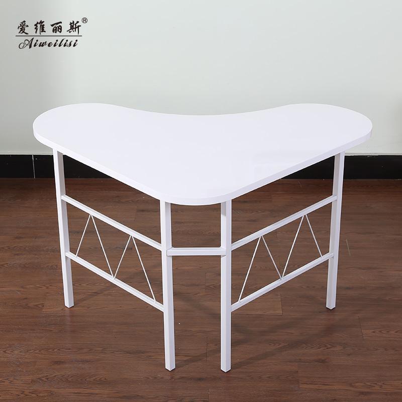 en forme de coeur aiweilisi bureau ordinateur de bureau coin bureau moderne minimaliste ikea. Black Bedroom Furniture Sets. Home Design Ideas