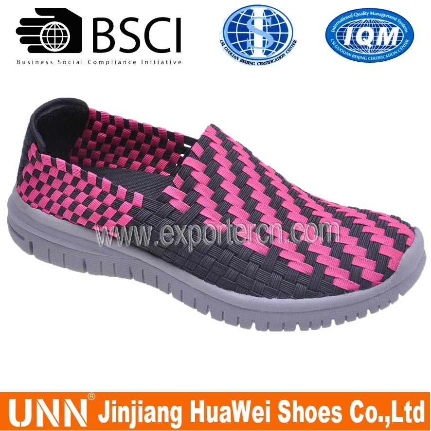 2015 Stretch Rainbow Colored Woven Shoes Women