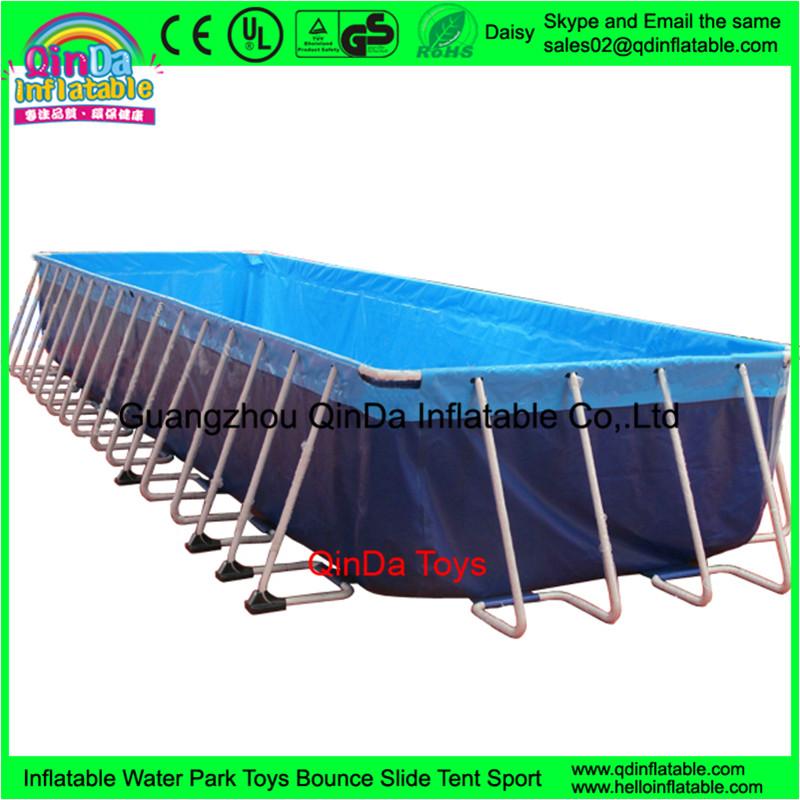 portable riesigen rechteckigen metallrahmen pool stahl kunststoff